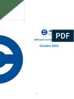 Mercado Automotor Octubre 2013