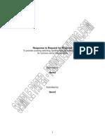 Rfp Response Sample