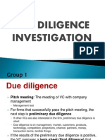 Due Diligence Investigation