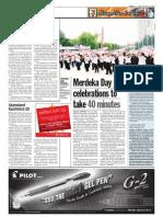 TheSun 2009-08-28 Page06 Merdeka Day Celebrations to Take 40 Minutes