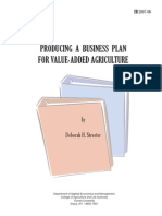 Producing a Business Plan for Value Added Agriculture