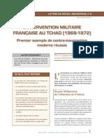 Goya, Michel - L'intervention militaire française au Tchad (1969-1972). Premier exemple de contre-insurrection moderne réussie - Lettre du Retex -Recherche n°6, 2013.11.28