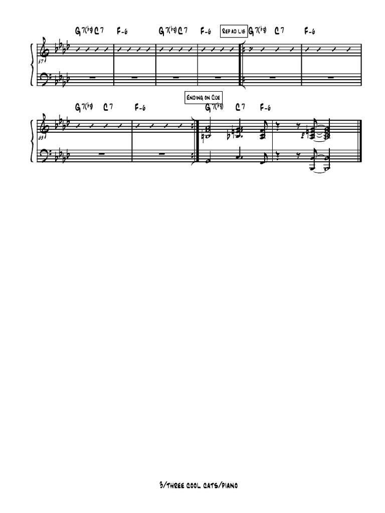 3 cool cats - 001g piano  scribd