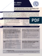 ISO 29001 Lead Implementer - Two Page Brochure