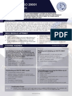 ISO 29001 Lead Auditor - Two Page Brochure