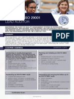 ISO 29001 Lead Auditor - Four Page Brochure