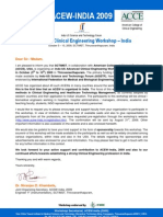 Advance Workshop on Clinical Engineering-2009-InDIA