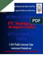 Unidad 1 - Actitud científica y ciencia 2013-1
