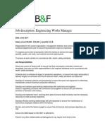 Works Manager Job Description