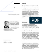 A Scientific Model for Grassroots O.D.