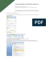 Como inserir numeração de paginas no Word 2007 somente nas páginas