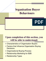 Organisation Buyer Behaviours