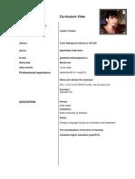 Curriculum Vitae in Engleza