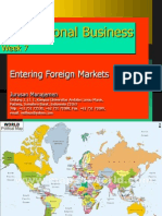 Entering Foreign market