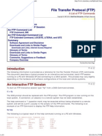 File Transfer Protocol (FTP), A List of FTP Commands