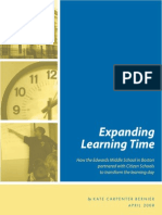 Expanded Learning Time report by Kate Carpenter Bernier