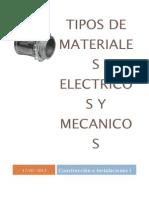 Tipos de Materiales Electricos y Mecanicos