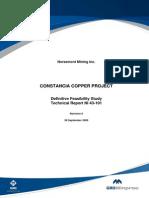 Constancia Technical Report Ni 43 101