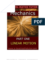E-Book, Mechanics Part One 'Linear Motion', revision notes from A-level Maths Tutor