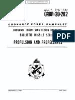 Engineering Design Handbook - Propulsion and Propellants, Report 706-282, USAMC (1960)