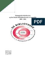 Eindrapport Strategische Beleidsvisie Op Het Lokale Bibliotheekwerk