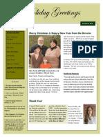 Papillion Center for FASD Holiday Newsletter