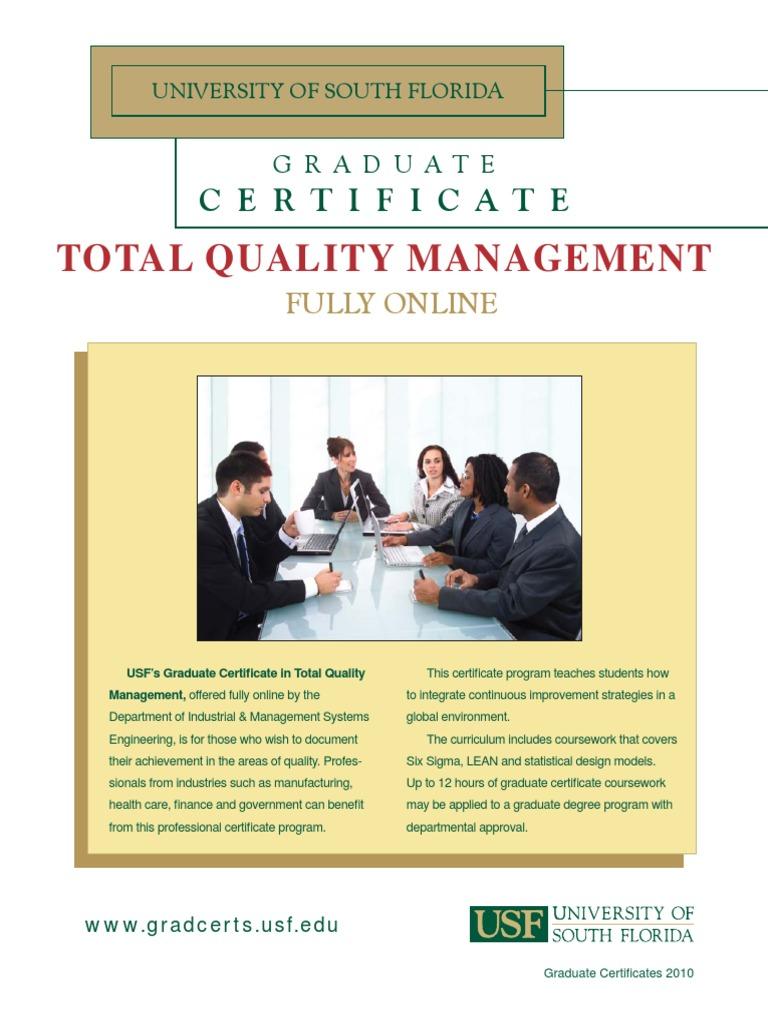 Tqm Total Quality Management Graduate School Academic Degree