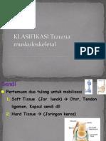 KLASIFIKASI Trauma Muskuloskeletal