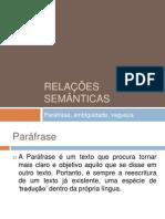 Relações semanticas-II