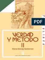Hans Georg Gadamer - Verdad y Metodo II