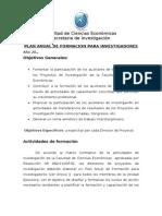 Plan Anual Para La Formacin Investigadores