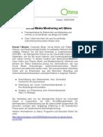 Pressemitteilung Social Media Monitoring 280809