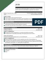 cindy hatch resume 2013 school online