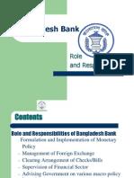 Bangladesh Bank Role and Responsibilities