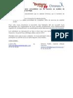 Chronos - Appel à participants Bretigny