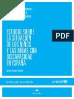 Estudio situacion niños discapacidad España