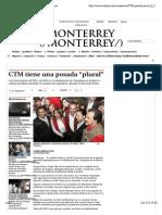 """15-12-13 CTM tiene una posada """"plural"""" - Grupo Milenio"""