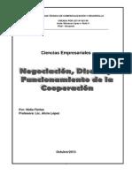 negociacion del diseño y el funcionamiento de la cooperacion (Reparado)