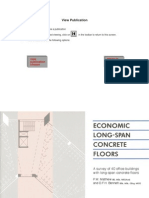 Economic Long Span Concrete Floor Slabs