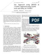 Network Centric Approach using MOVE & Application Centric Approach using TraNS for protocols and safety in VANET
