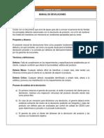 Manual de Devoluciones CALZADO