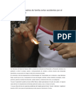 12/12/13 Diariomarca Exhorta SSO a Padres de Familia Evitar Accidentes Por El Uso de Pirotecnia