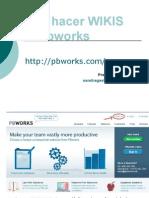 Cómo hacer WIKIS con Pbworks