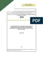 Breilh, Jaime, La determinación social de la salud como herramienta de ruptura hacia la nueva salud puública (salud Colectiva), Seminario Inter de Salud Pública, Colomia, 2013