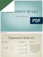 sabina bacino exponent rules