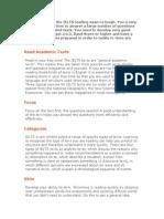Top Ten Tips for ILETS Reading