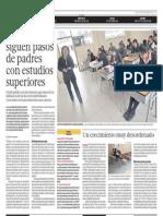 Escolares siguen pasos de padres con estudios superiores - Gabriela Guerrero - El Comercio - 161213