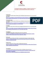 Dossier Prensa Apertura Convocatoria 2014