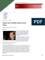 George.Yeo.mistaken.Burma.history