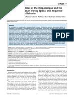 Fouquet HippocampusAndDMS SequenceLearning